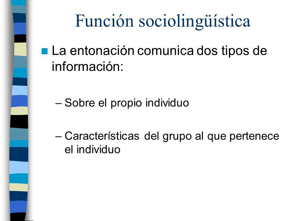 Función sociolingüística