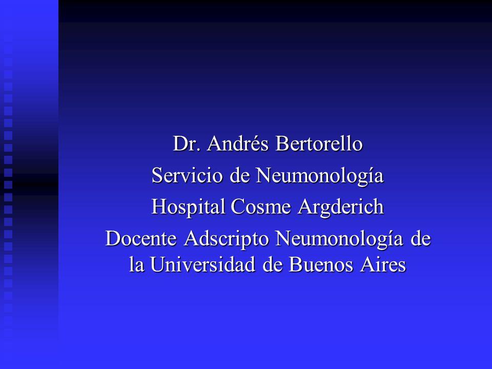 Servicio de Neumonología Hospital Cosme Argderich
