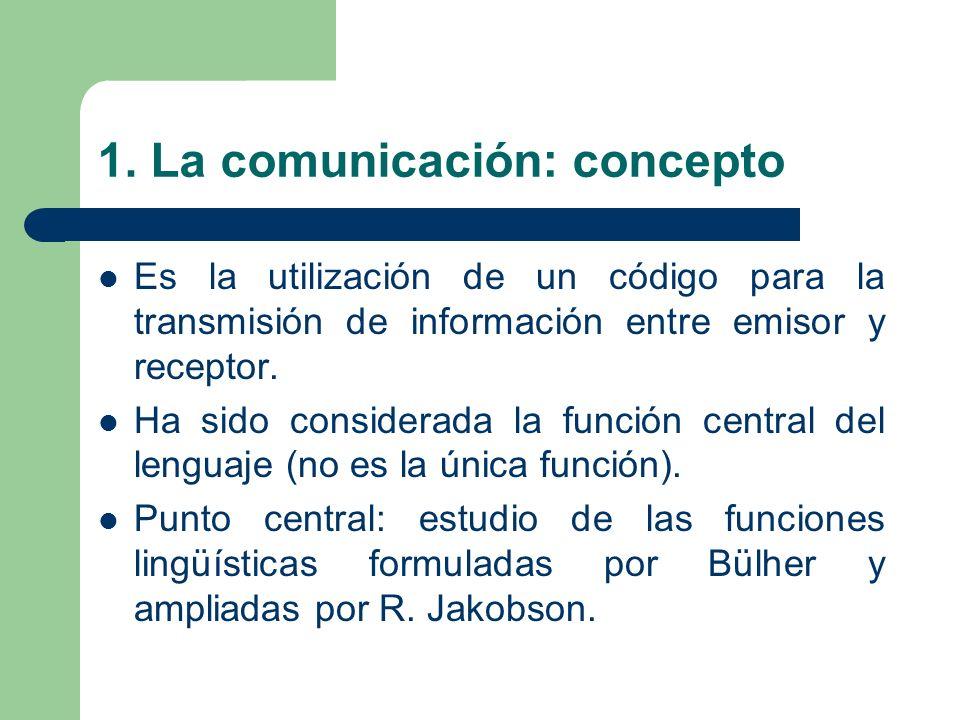 1. La comunicación: concepto