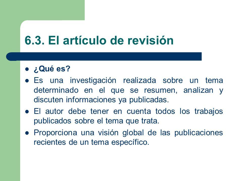 6.3. El artículo de revisión