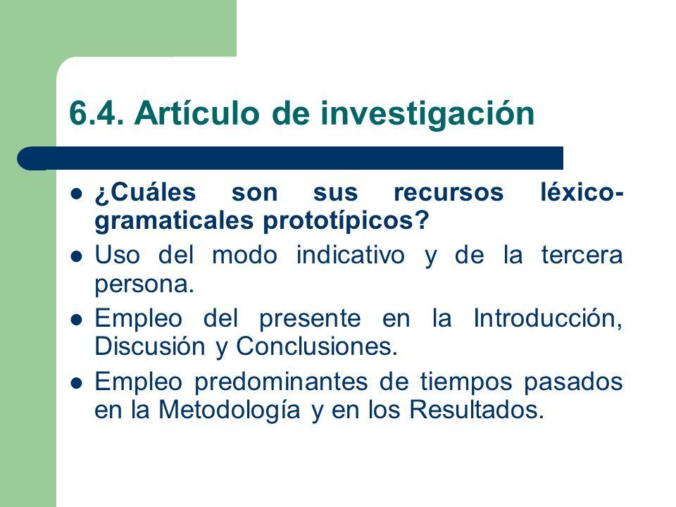 6.4. Artículo de investigación