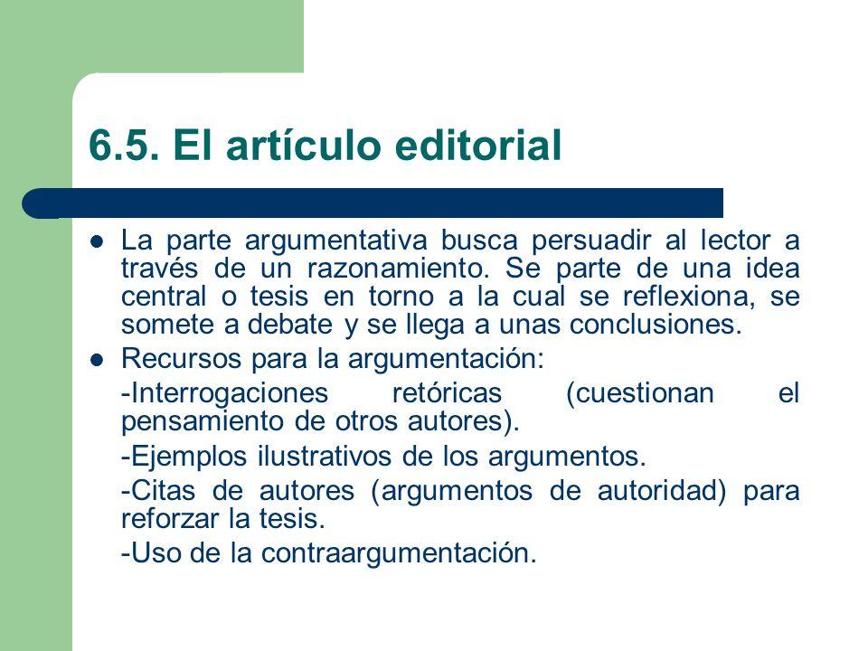 6.5. El artículo editorial