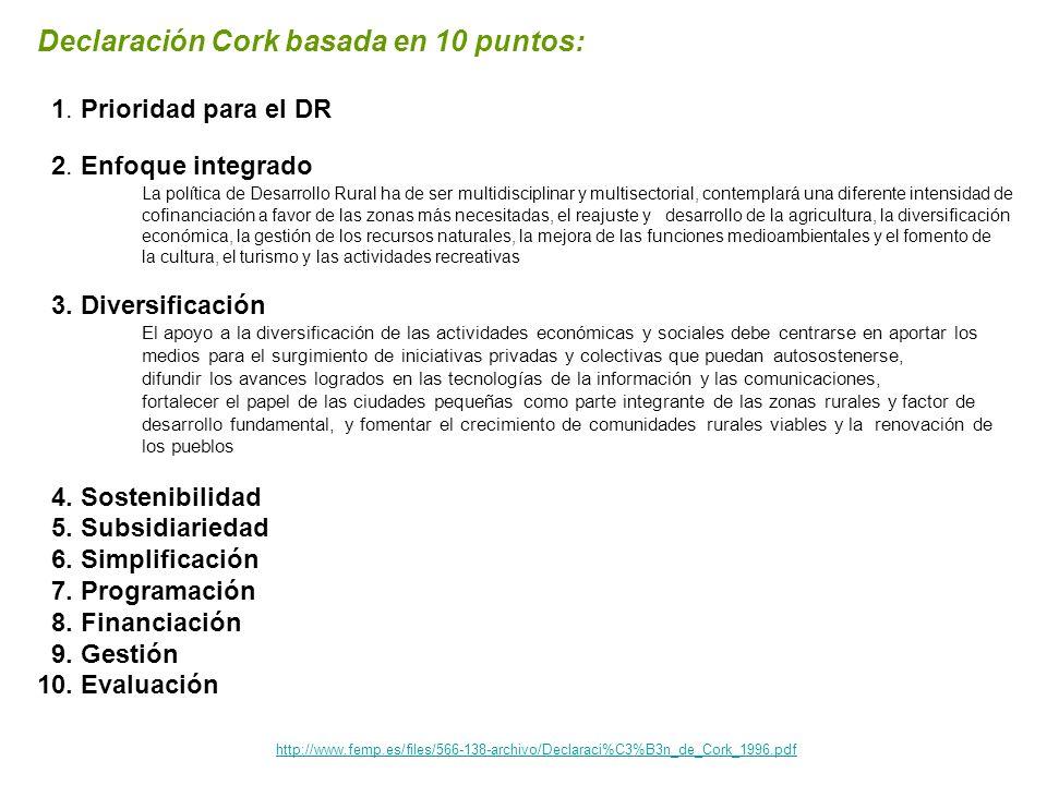 Declaración Cork basada en 10 puntos: