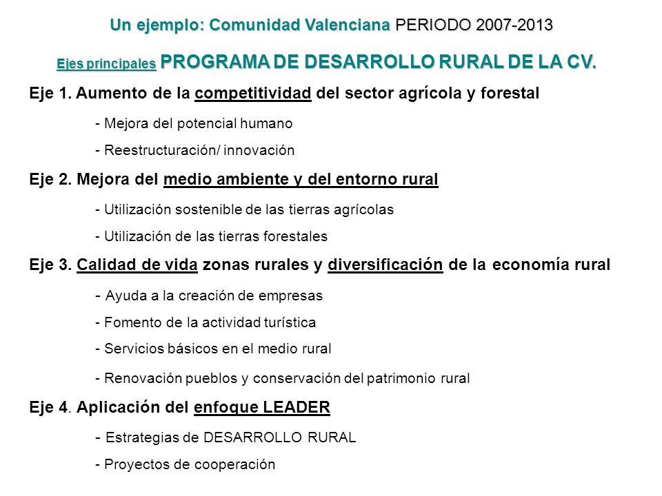 Un ejemplo: Comunidad Valenciana PERIODO 2007-2013