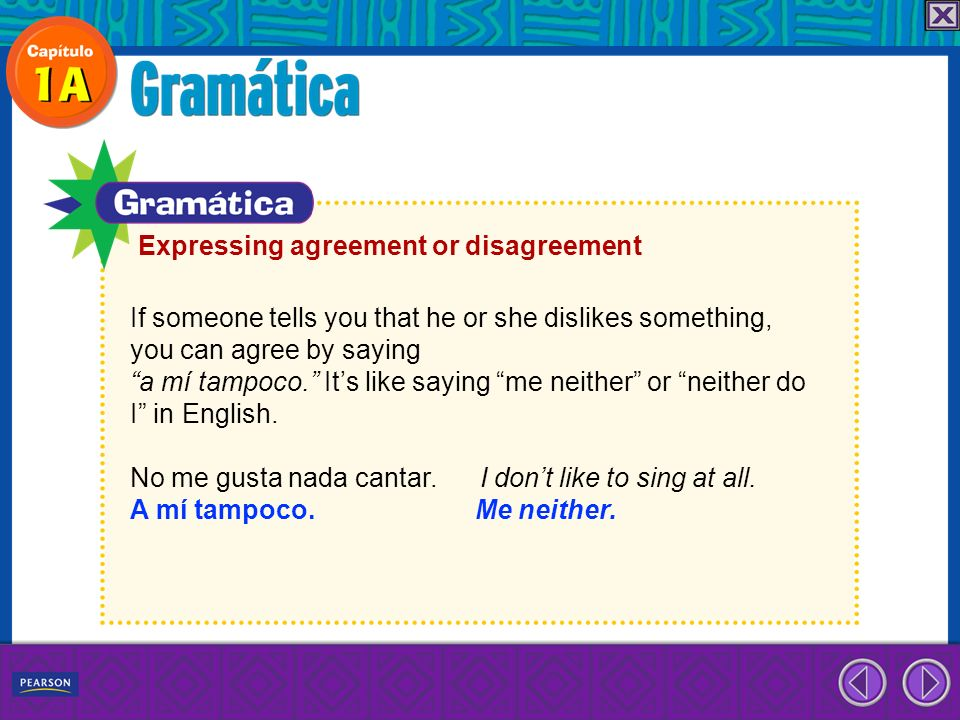 Expressing agreement or disagreement