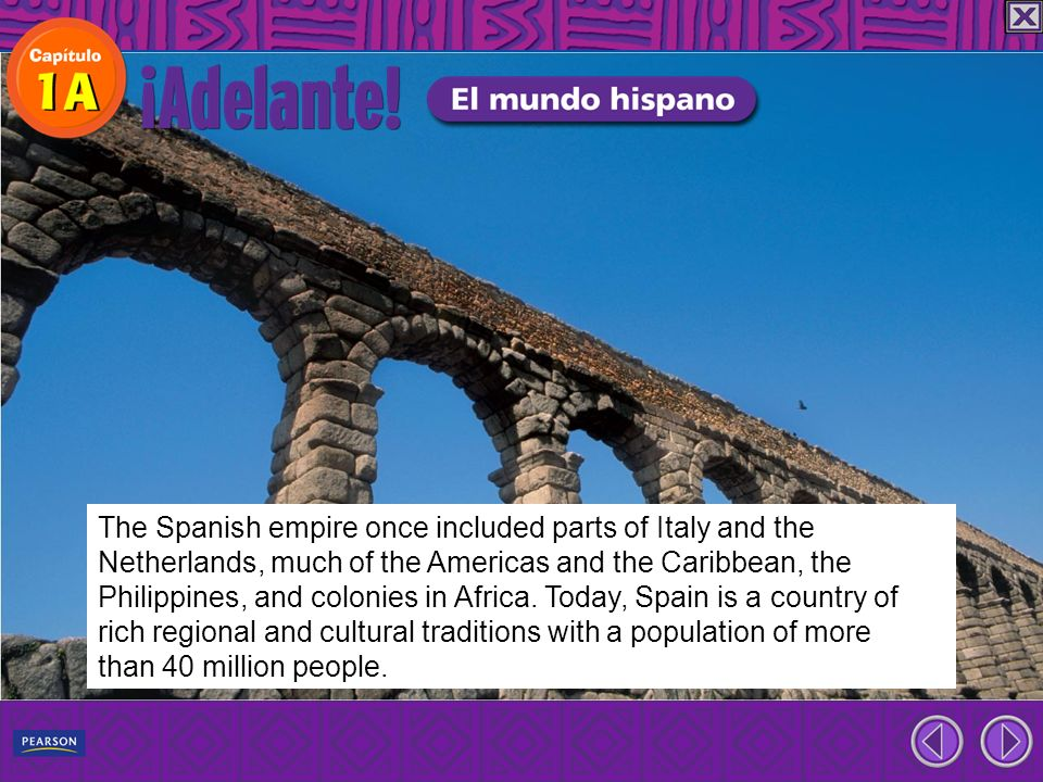 The Spanish empire once included parts of Italy and the