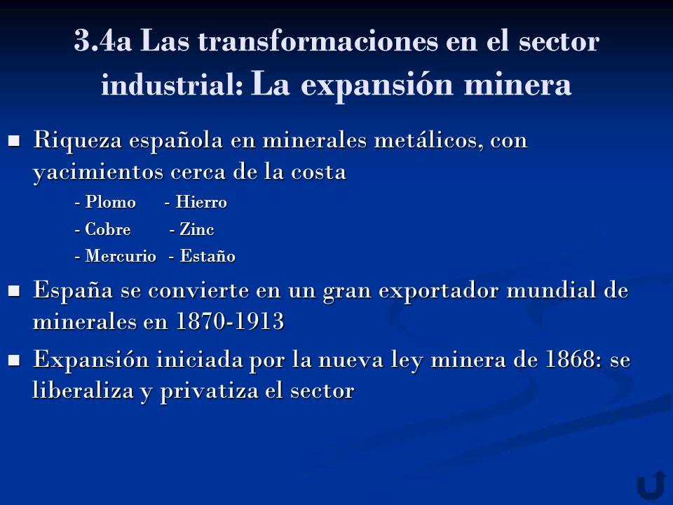 3.4a Las transformaciones en el sector industrial: La expansión minera