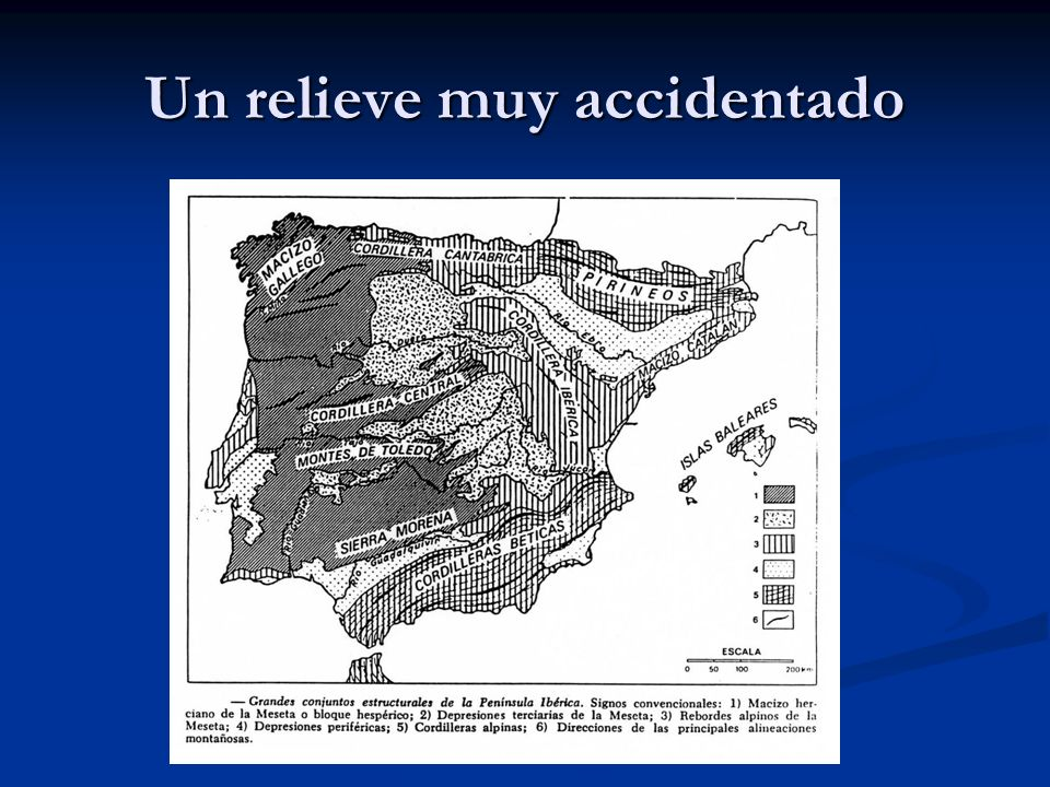 Un relieve muy accidentado