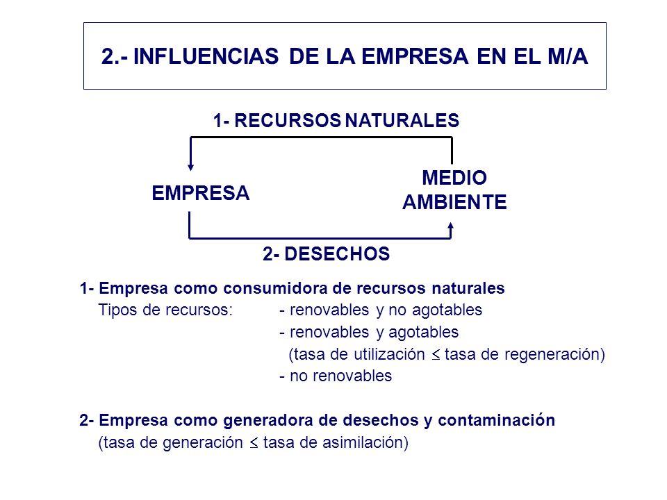 2.- INFLUENCIAS DE LA EMPRESA EN EL M/A