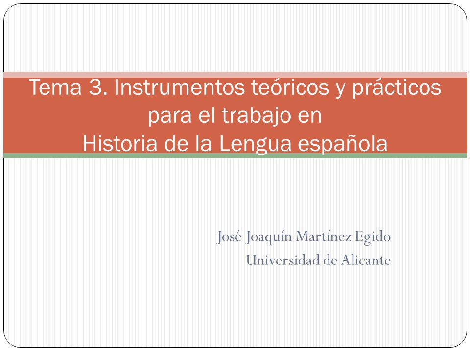 José Joaquín Martínez Egido Universidad de Alicante