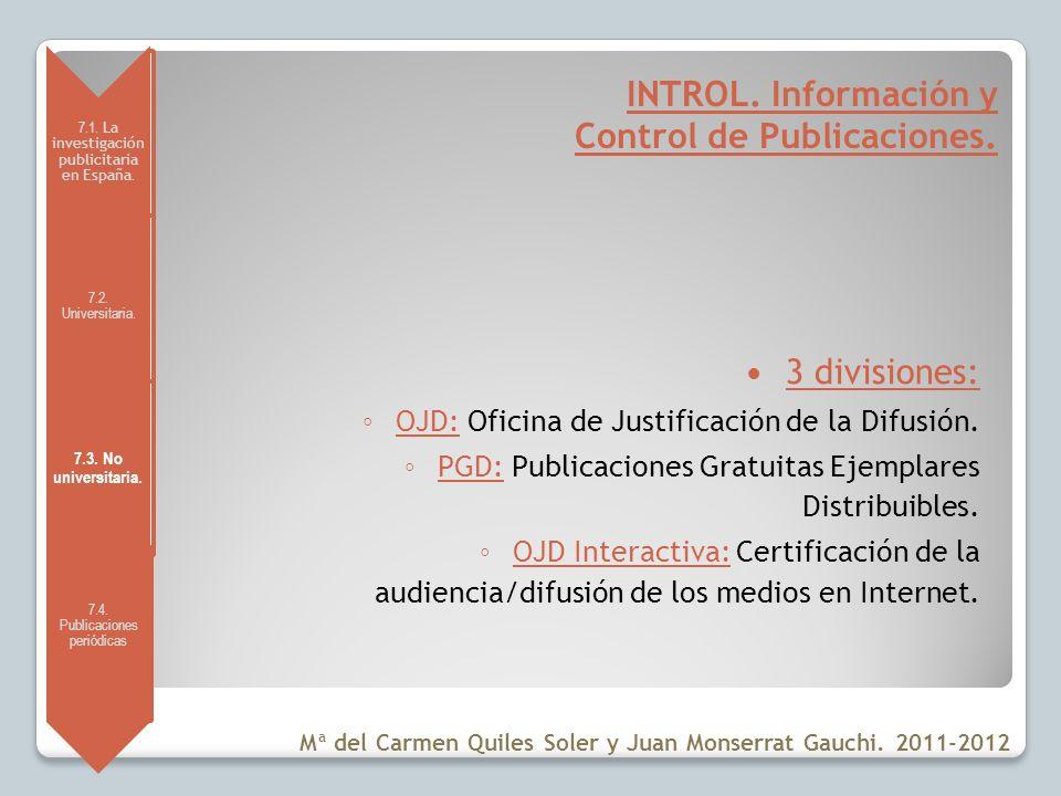 INTROL. Información y Control de Publicaciones.