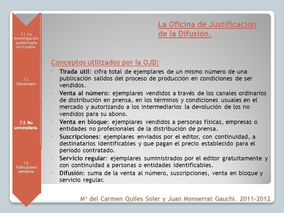 La Oficina de Justificación de la Difusión.