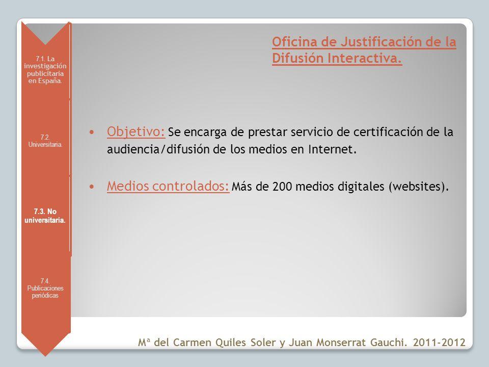 Oficina de Justificación de la Difusión Interactiva.