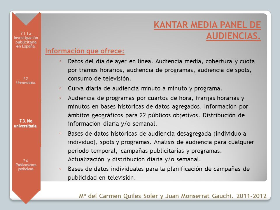 KANTAR MEDIA PANEL DE AUDIENCIAS.