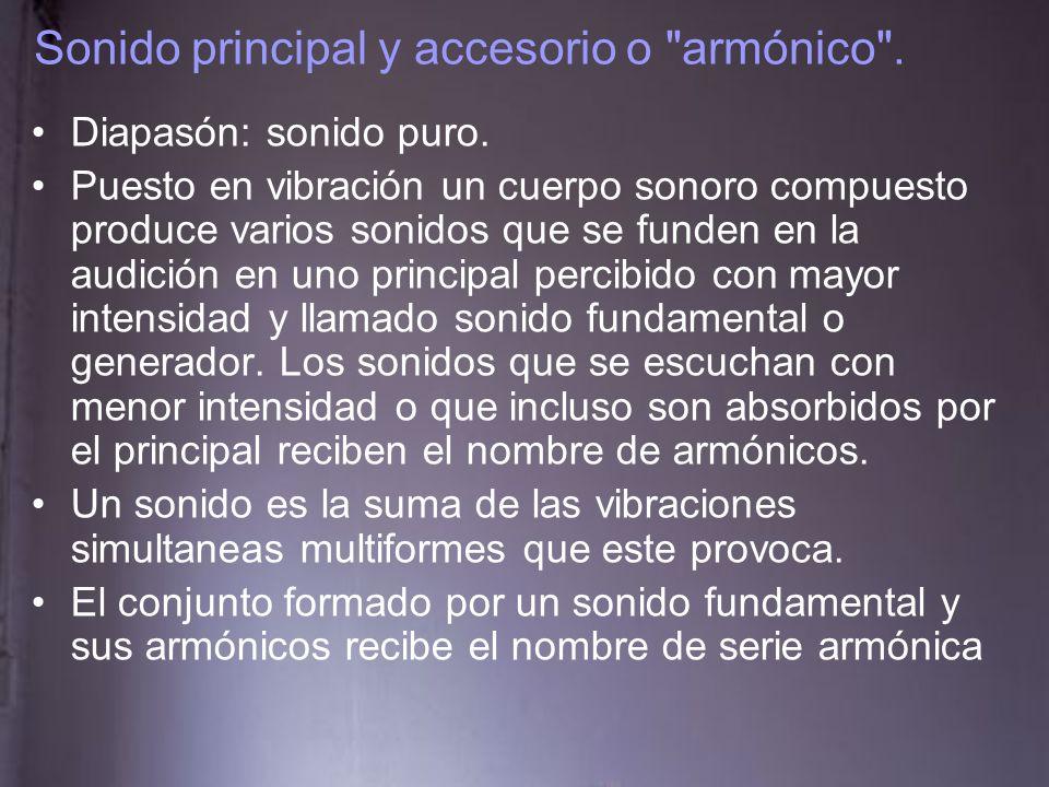 Sonido principal y accesorio o armónico .