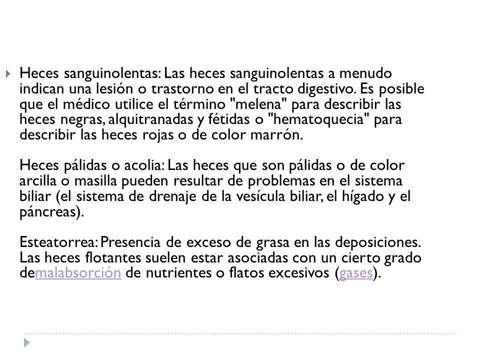Heces Color Arcilla