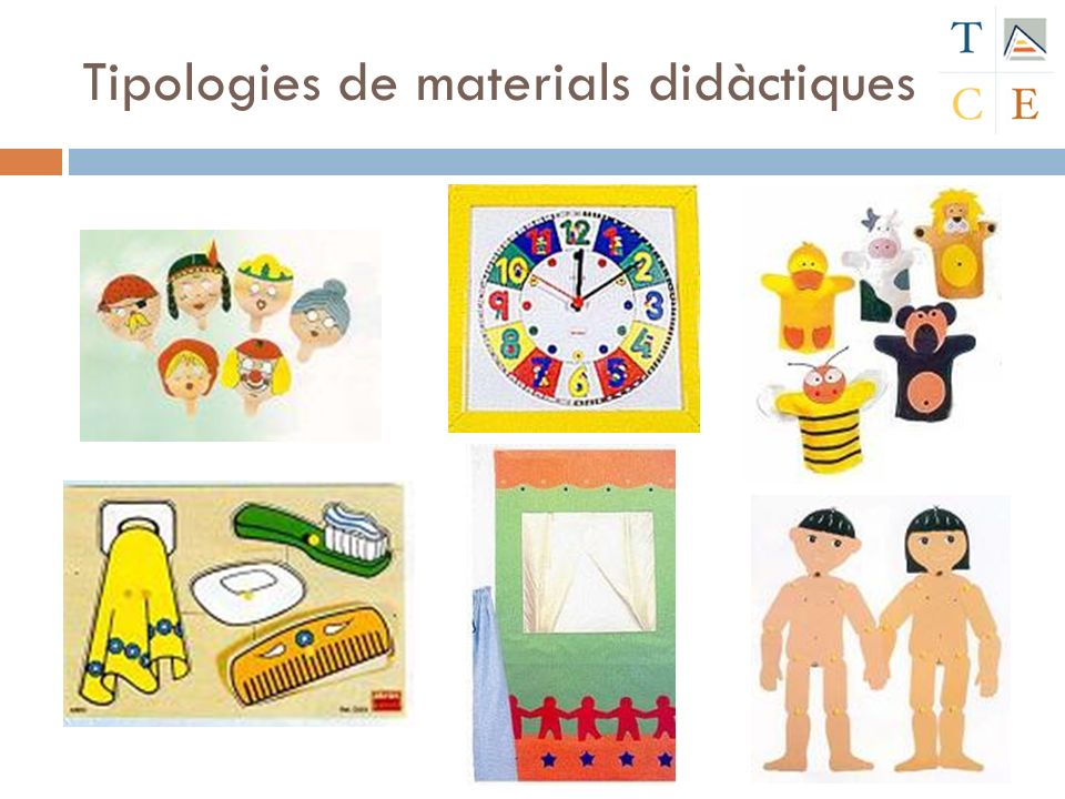 Tipologies de materials didàctiques