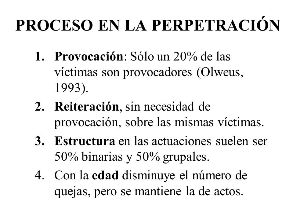 PROCESO EN LA PERPETRACIÓN