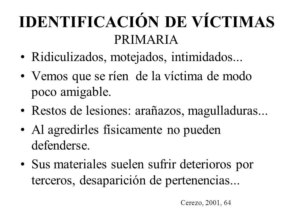IDENTIFICACIÓN DE VÍCTIMAS