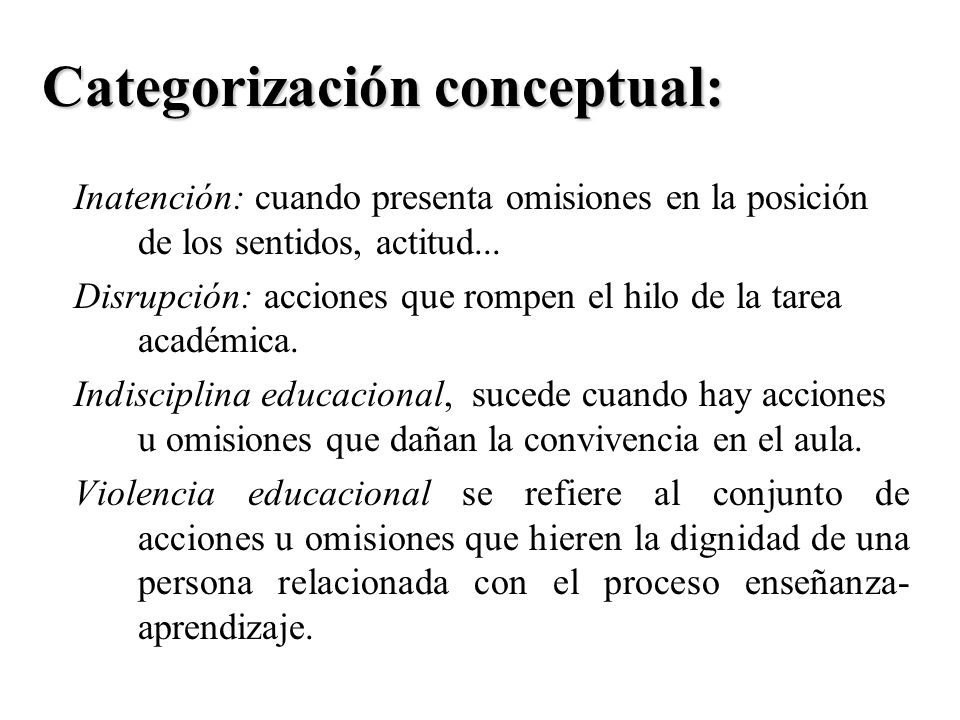 Categorización conceptual: