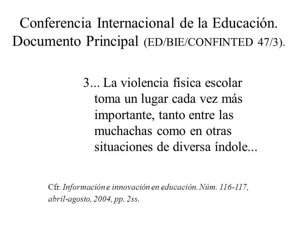 Conferencia Internacional de la Educación