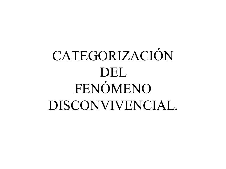 CATEGORIZACIÓN DEL FENÓMENO DISCONVIVENCIAL.
