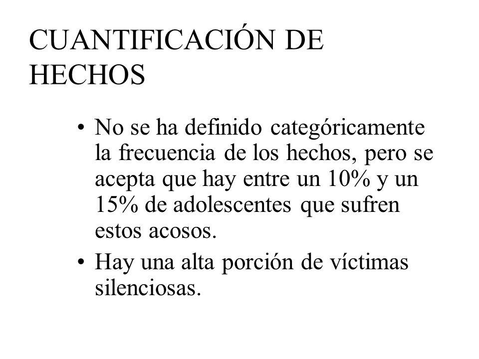CUANTIFICACIÓN DE HECHOS