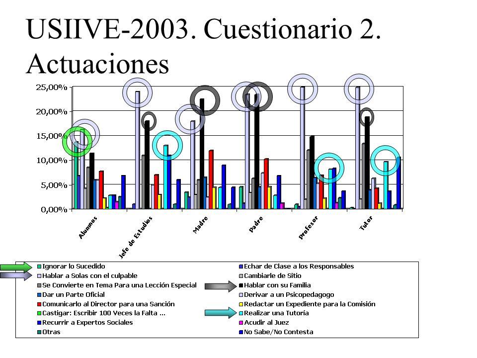 USIIVE-2003. Cuestionario 2. Actuaciones