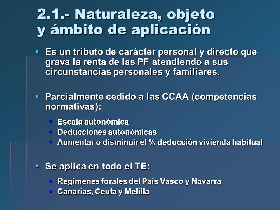 2.1.- Naturaleza, objeto y ámbito de aplicación