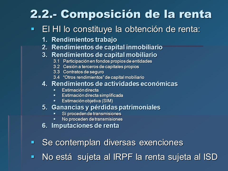 2.2.- Composición de la renta