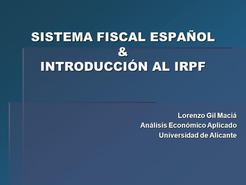 SISTEMA FISCAL ESPAÑOL & INTRODUCCIÓN AL IRPF