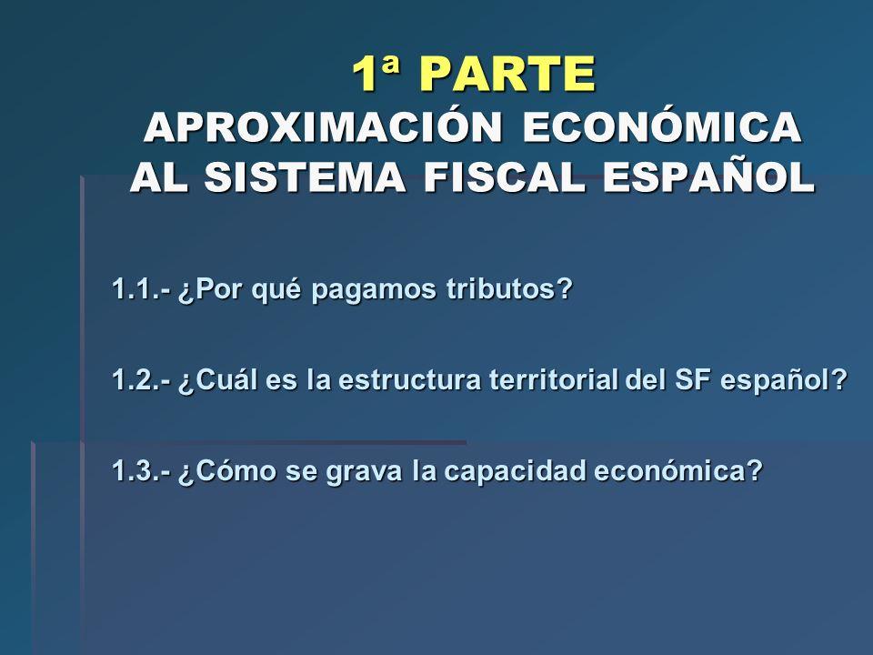 1ª PARTE APROXIMACIÓN ECONÓMICA AL SISTEMA FISCAL ESPAÑOL