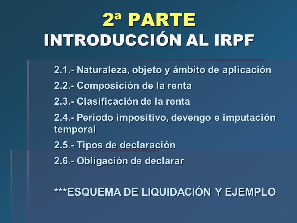 2ª PARTE INTRODUCCIÓN AL IRPF