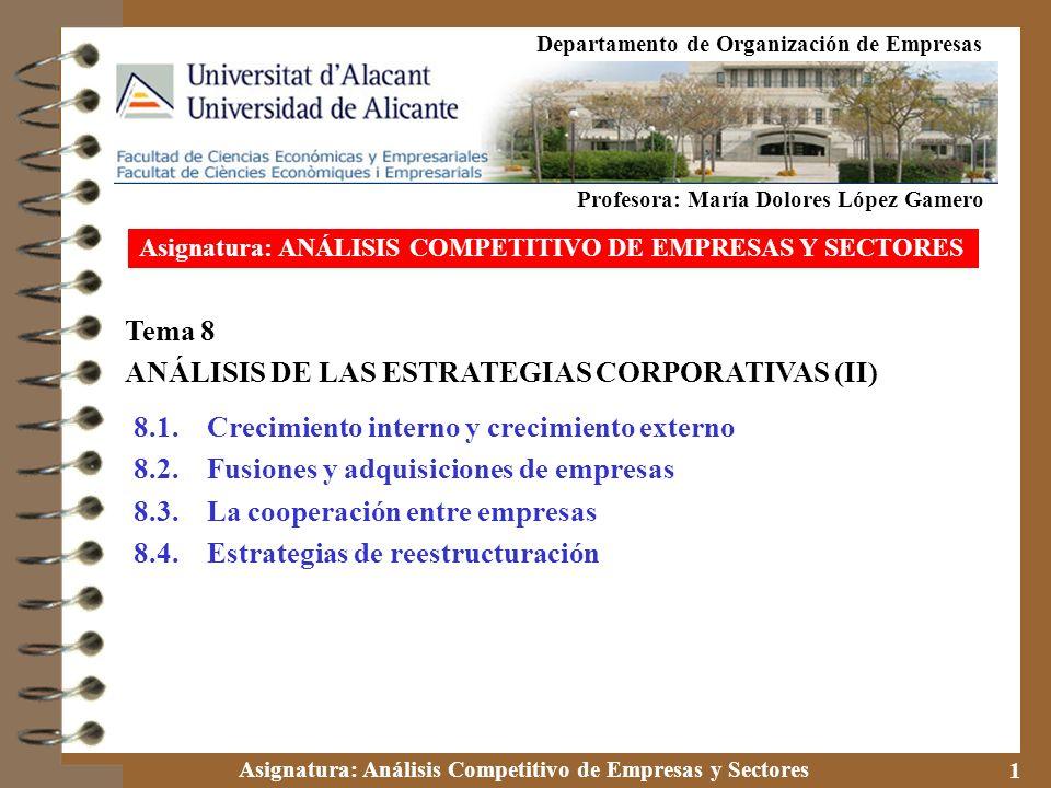ANÁLISIS DE LAS ESTRATEGIAS CORPORATIVAS (II)
