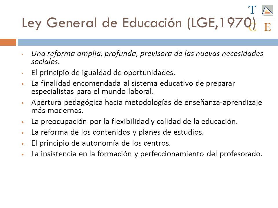 Ley General de Educación (LGE,1970)