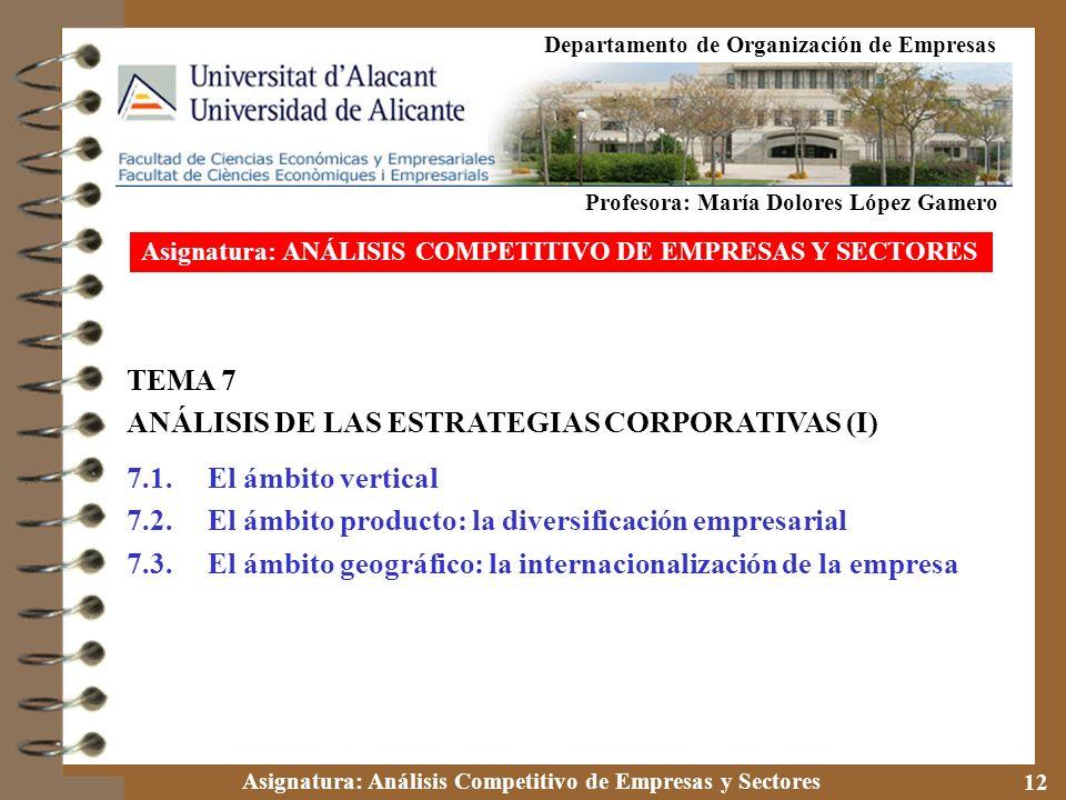ANÁLISIS DE LAS ESTRATEGIAS CORPORATIVAS (I)