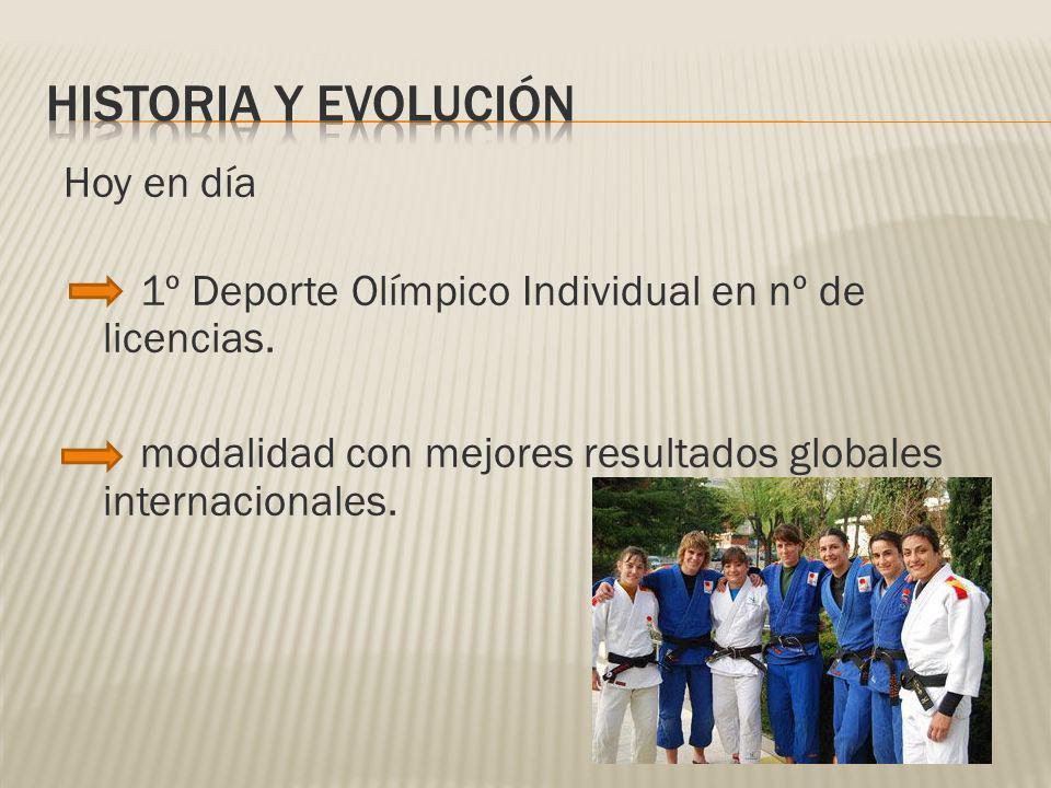 HISTORIA Y EVOLUCIÓN Hoy en día 1º Deporte Olímpico Individual en nº de licencias.