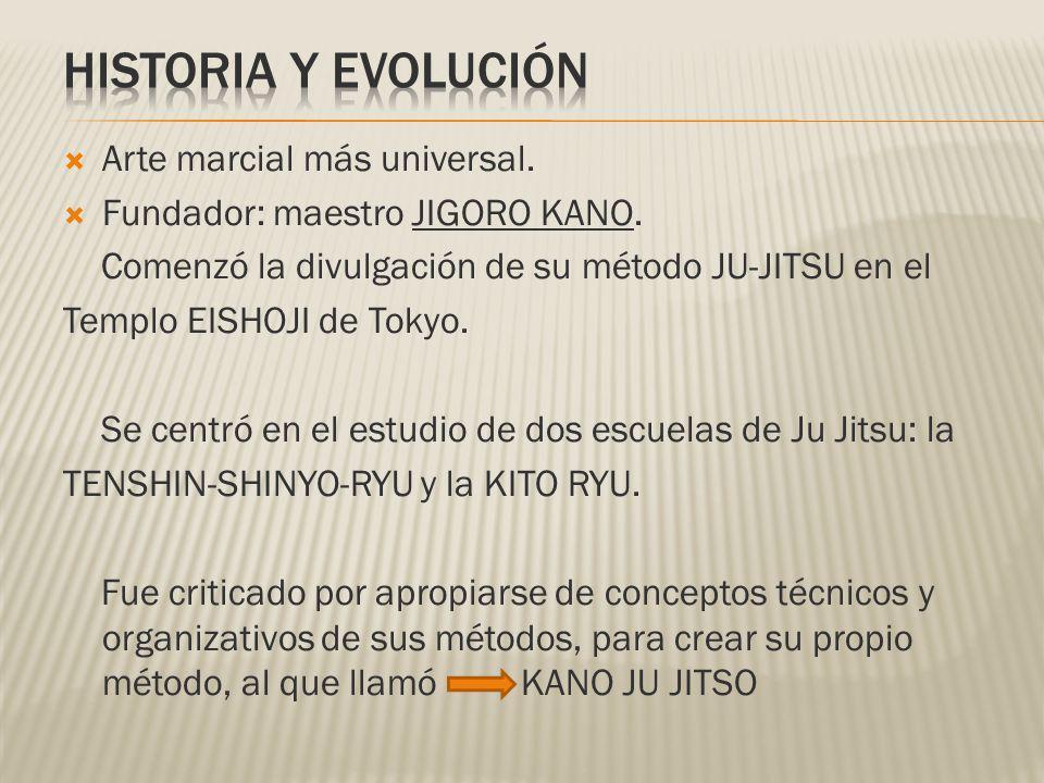 HISTORIA Y EVOLUCIÓN Arte marcial más universal.