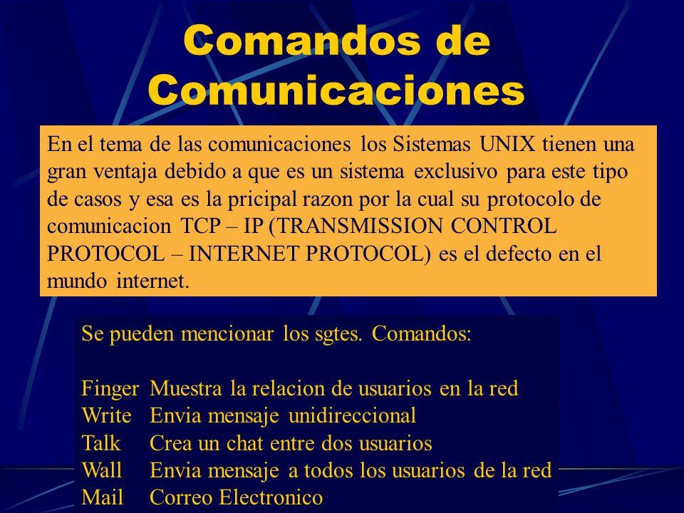 Comandos de Comunicaciones