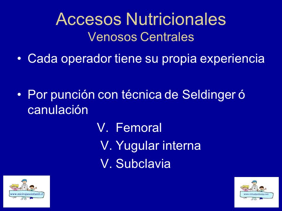 Accesos Nutricionales Venosos Centrales