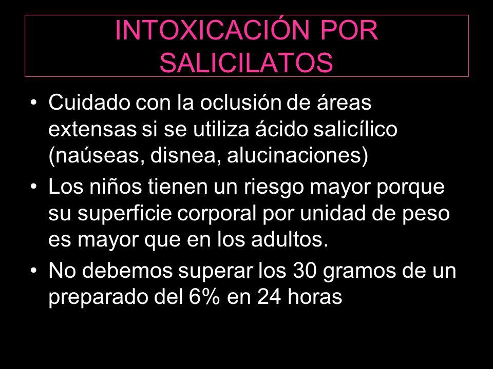 INTOXICACIÓN POR SALICILATOS
