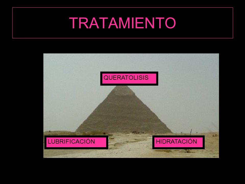 TRATAMIENTO QUERATOLISIS LUBRIFICACIÓN HIDRATACIÓN