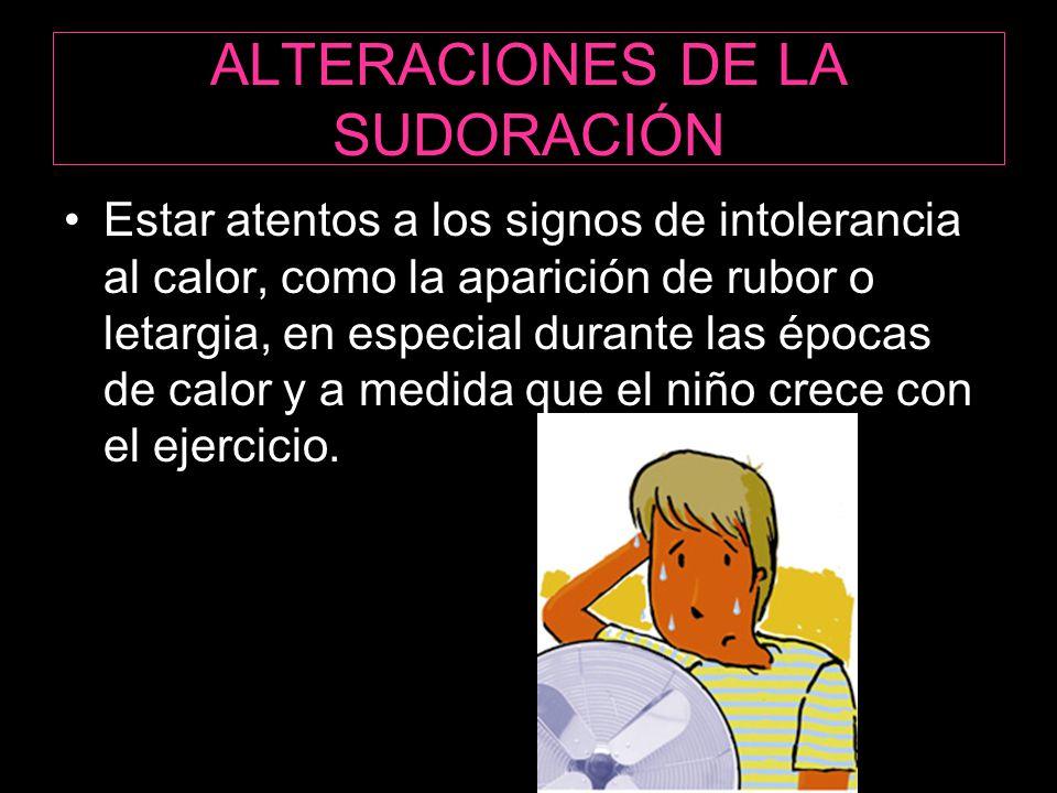 ALTERACIONES DE LA SUDORACIÓN
