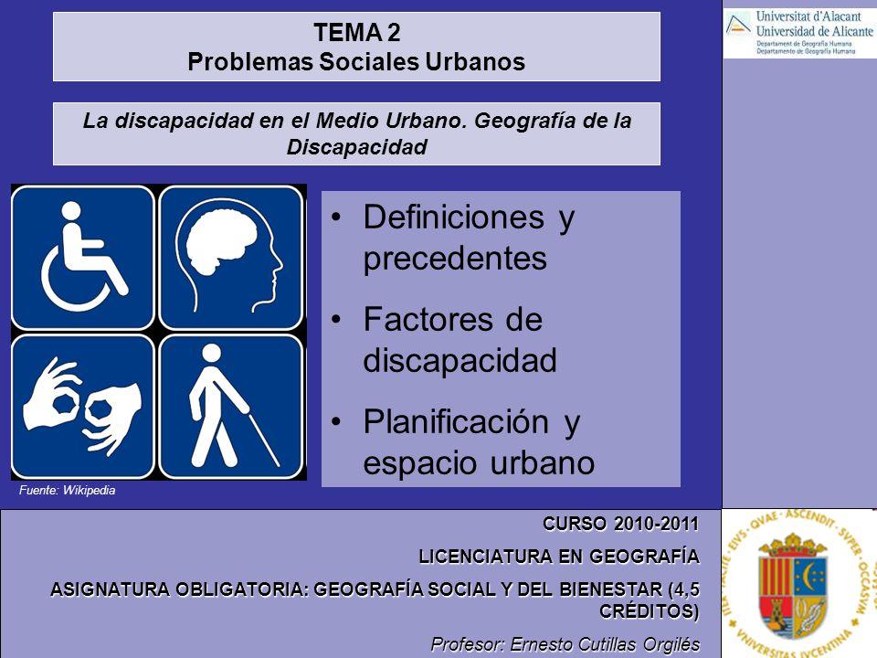 Problemas Sociales Urbanos