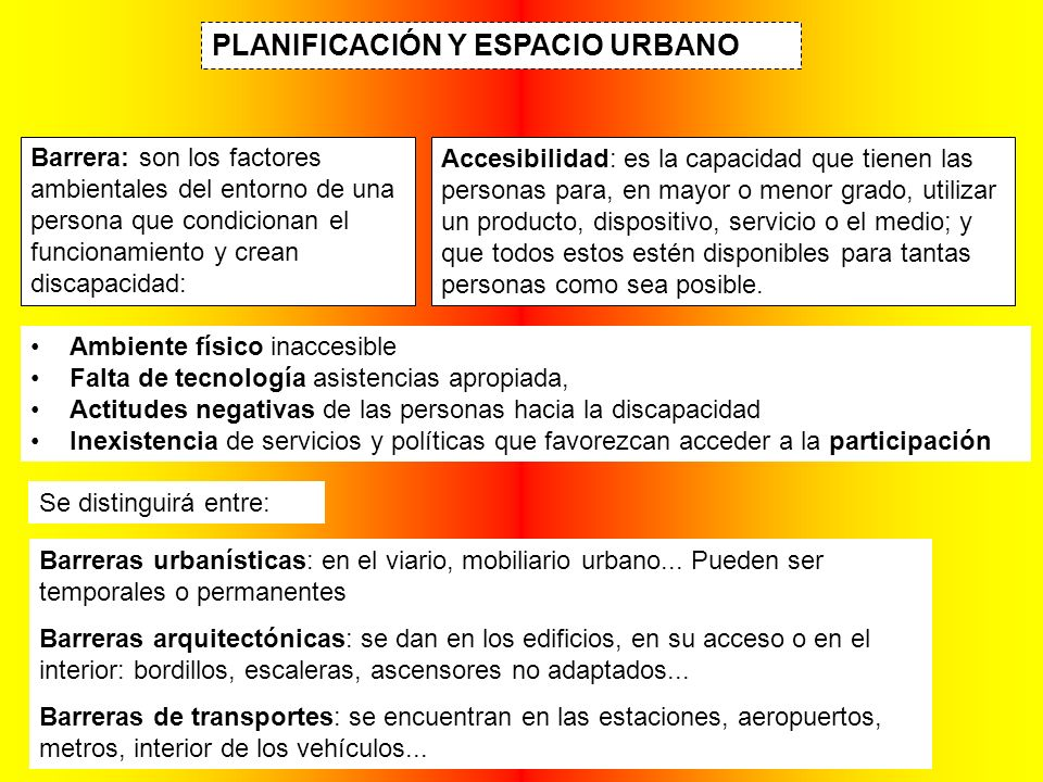 PLANIFICACIÓN Y ESPACIO URBANO