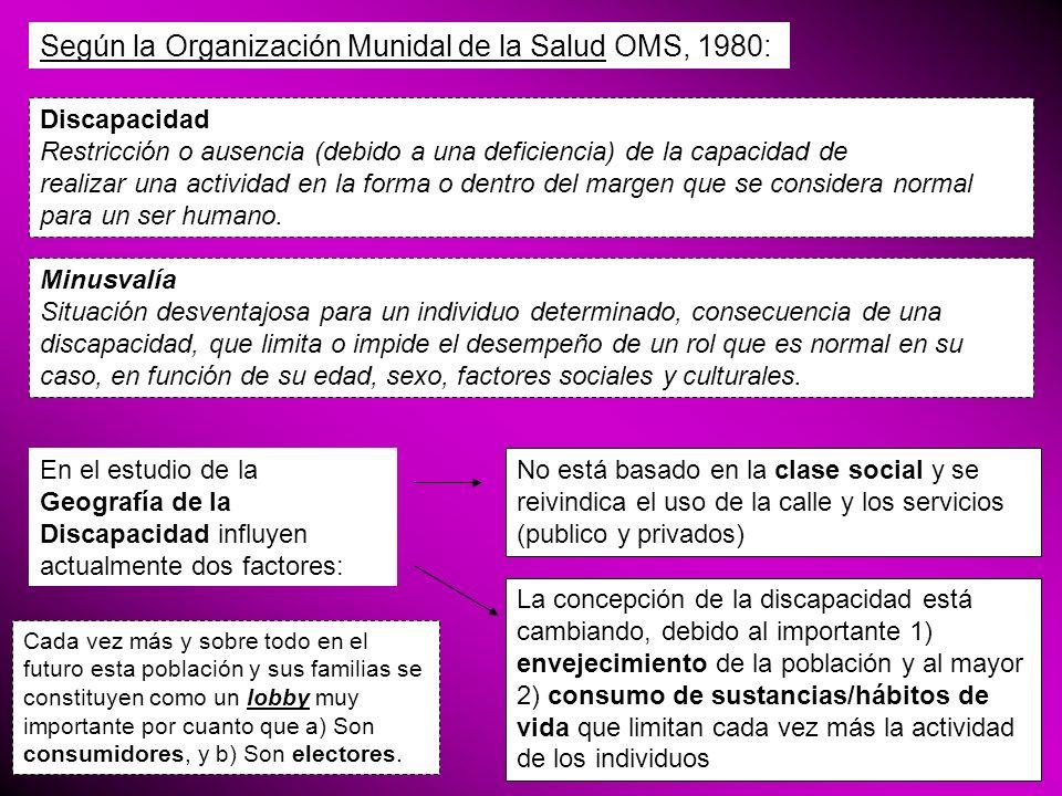 Según la Organización Munidal de la Salud OMS, 1980: