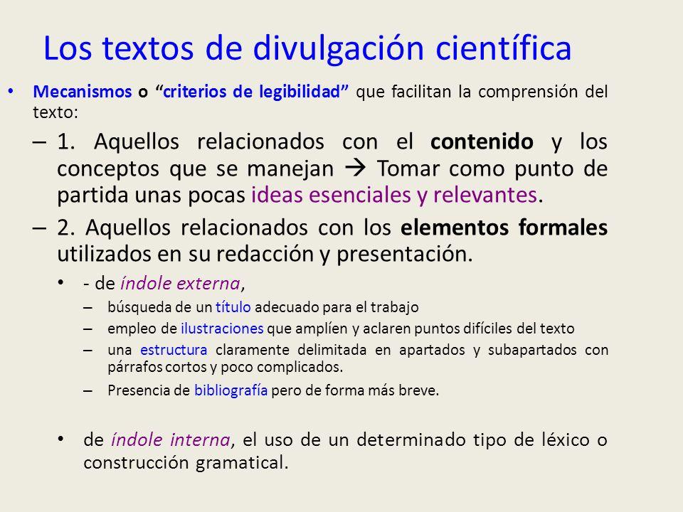 Los textos de divulgación científica