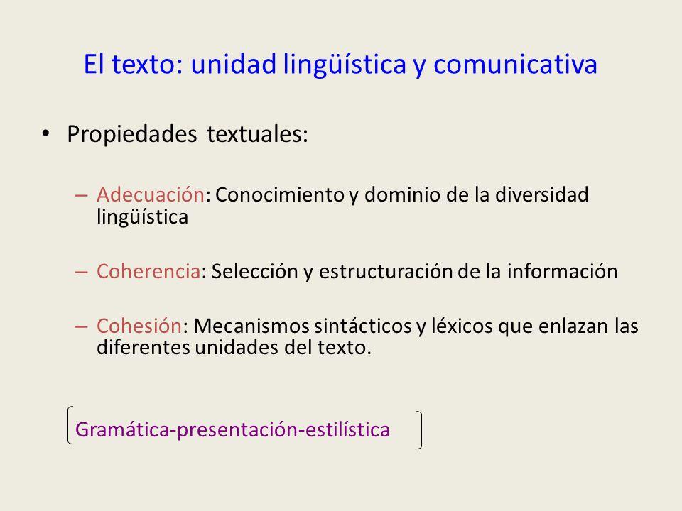 El texto: unidad lingüística y comunicativa