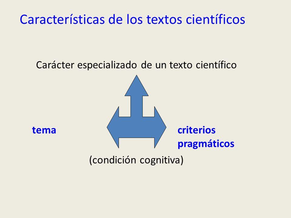 Características de los textos científicos