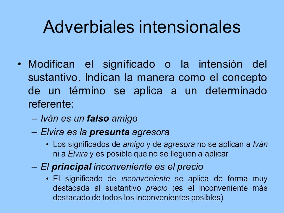 Adverbiales intensionales
